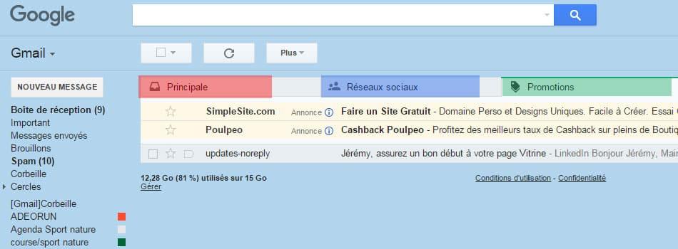 tri sur gmail