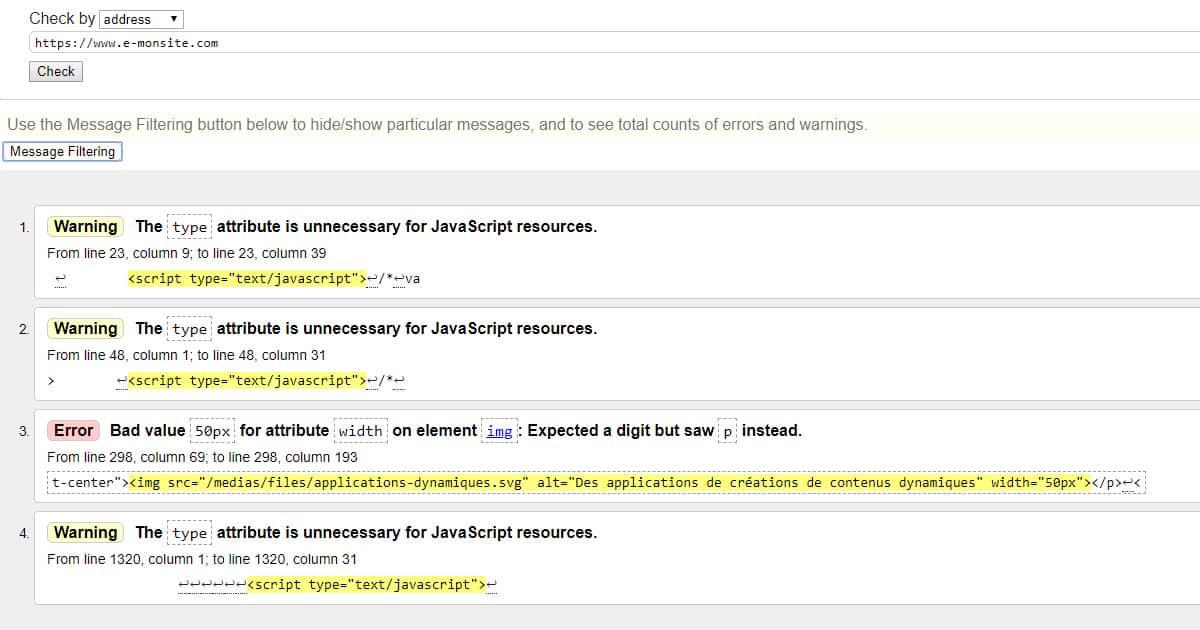 compatibilité W3C