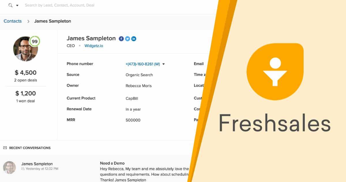 test avis freshsales