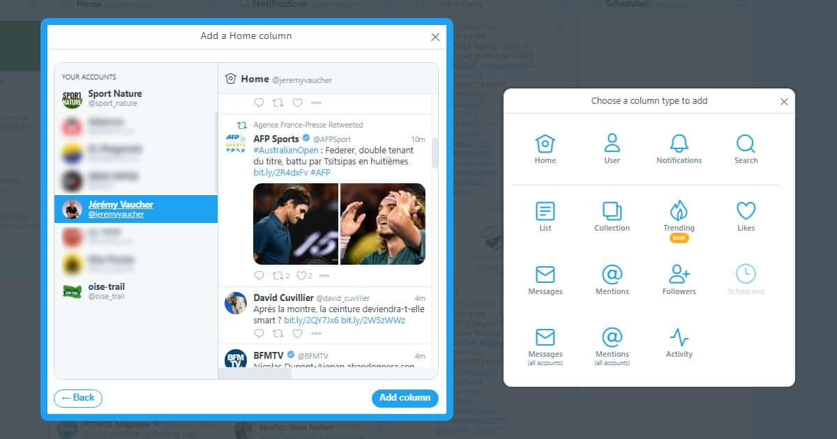 multicompte twitter