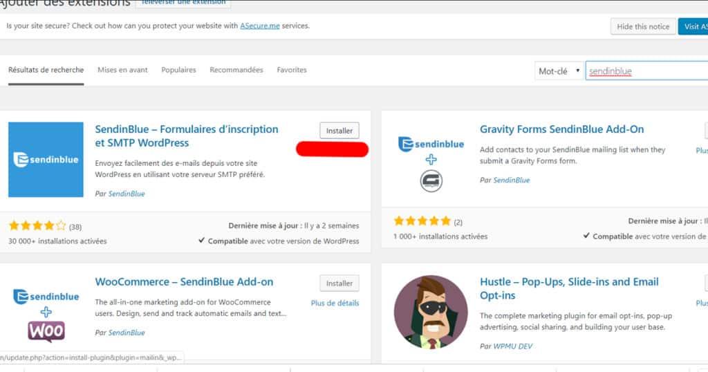 sendinblue wordpress
