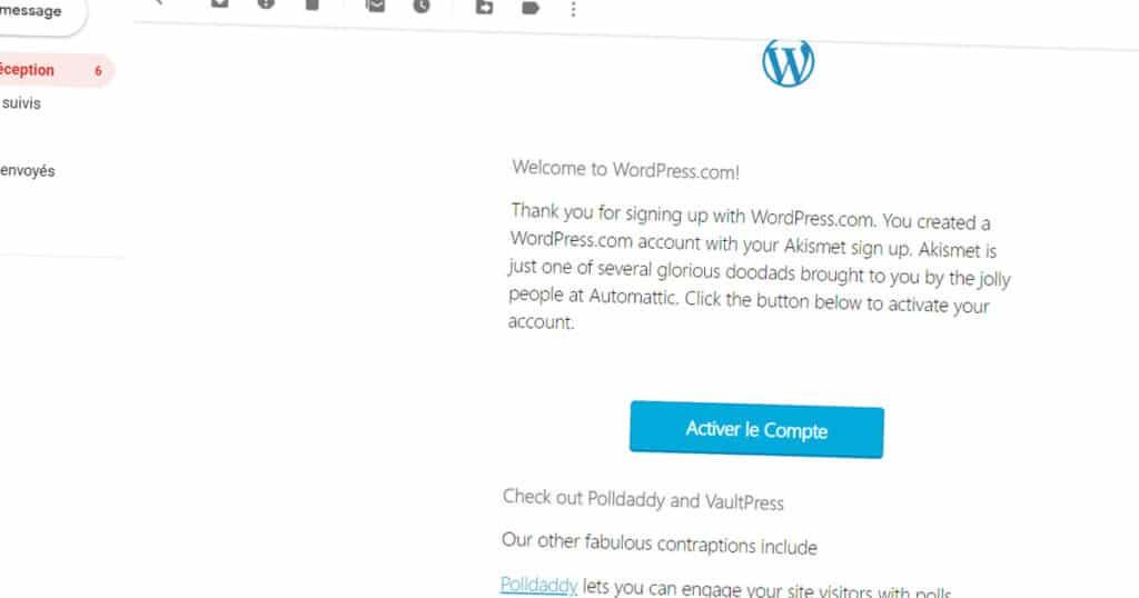 activer wordpress
