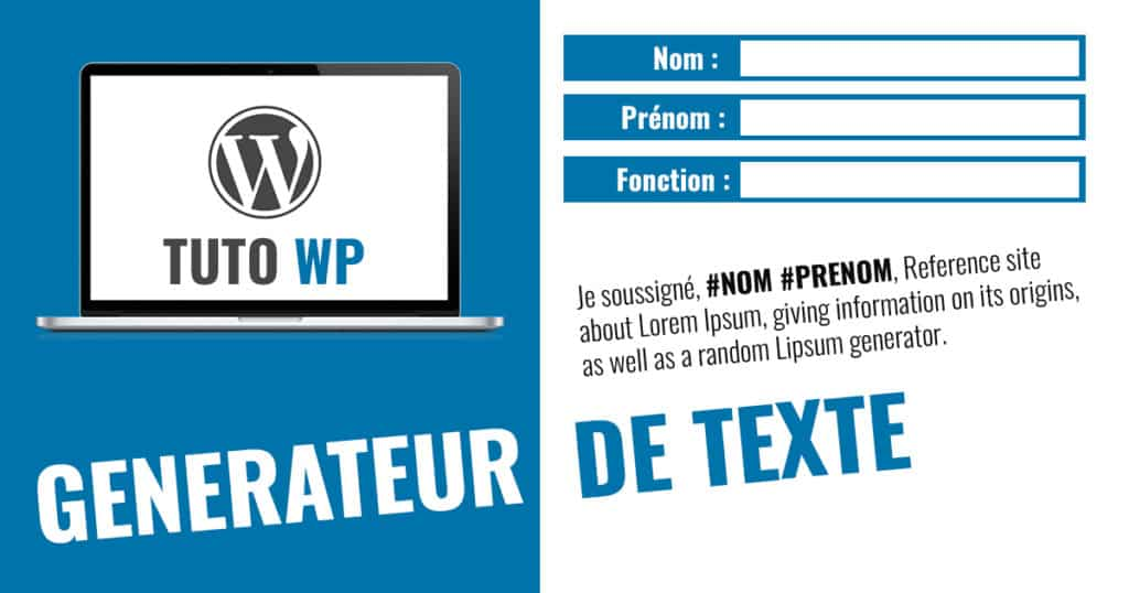 generateur texte wordpress