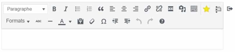 bloc classique wordpress
