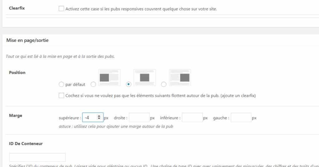 mise page annonce