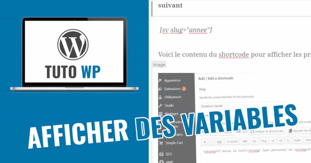 variables sur wordpress