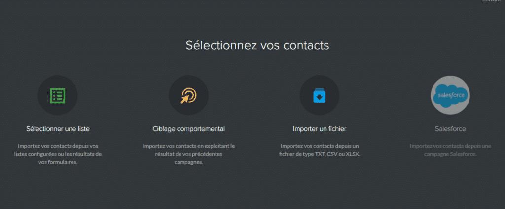 sarbacane logiciel contacts